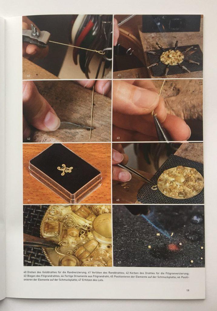 Dokumentation Herstellung Goldscheibenfibel