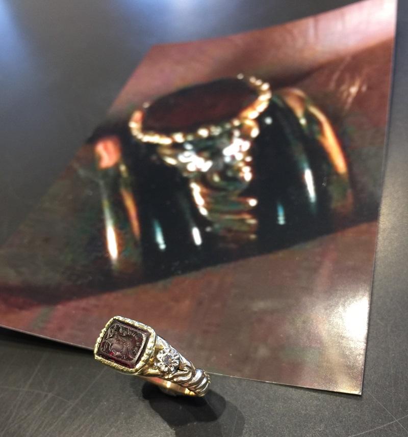 Replik Ring mit Intaglio