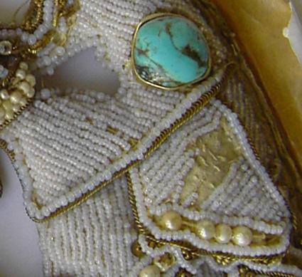 Restaurierung Ikone Rocailleperlen