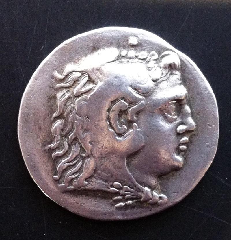 Vorderseite Münze Alexanders des Großen