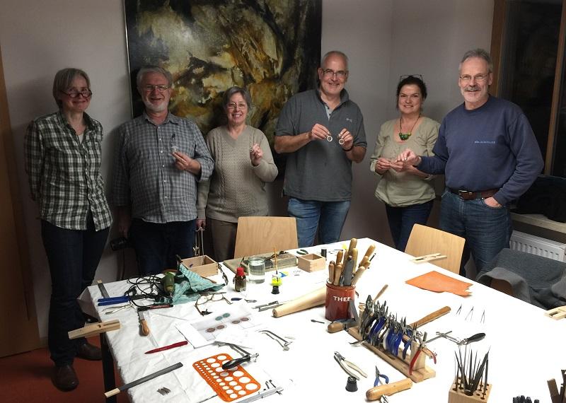 Kreativworkshop Goldschmieden Vulkaneum Schotten
