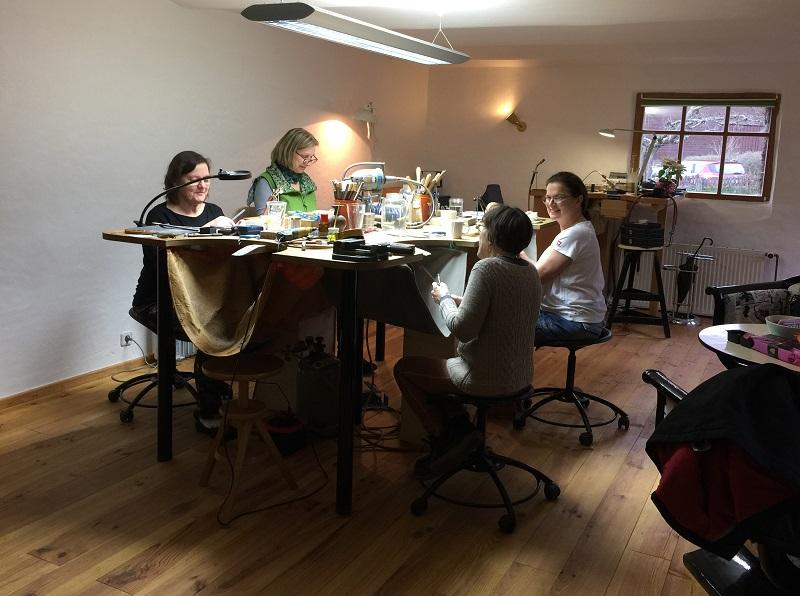 Wochenendkurs Goldschmieden im neuen Atelier