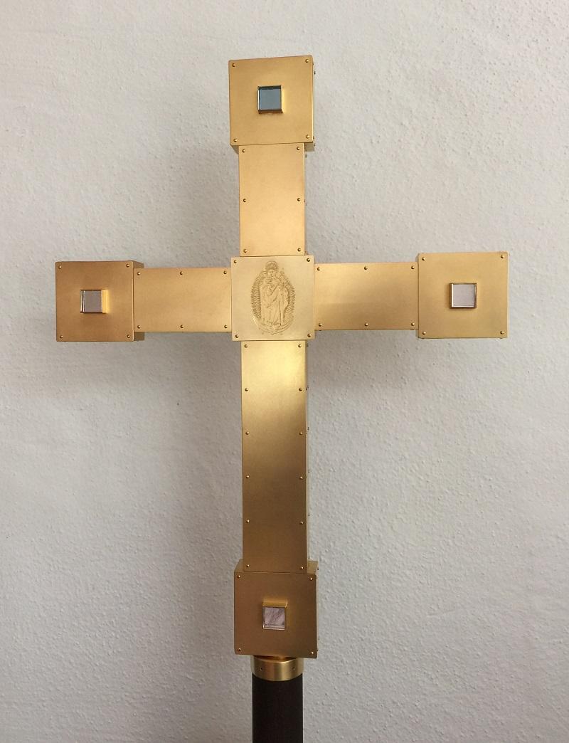 Rückseite Prozessionskreuz