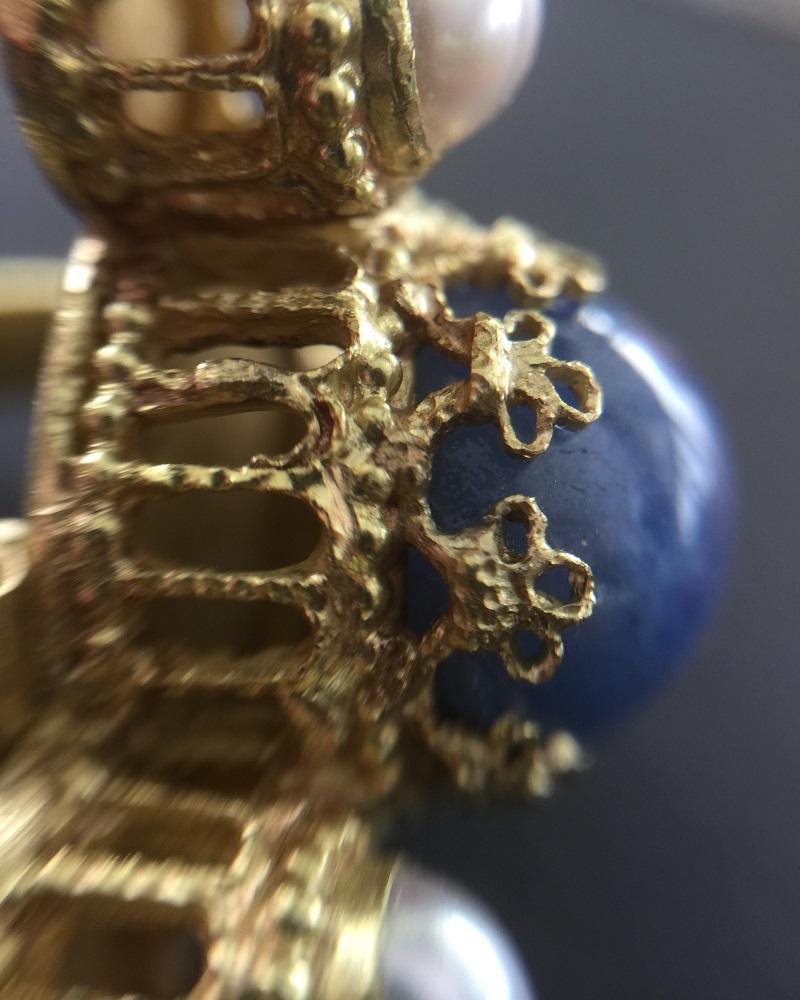 010604 Ring Kaiser Heinrich IV Canossa Gold Sternsaphir